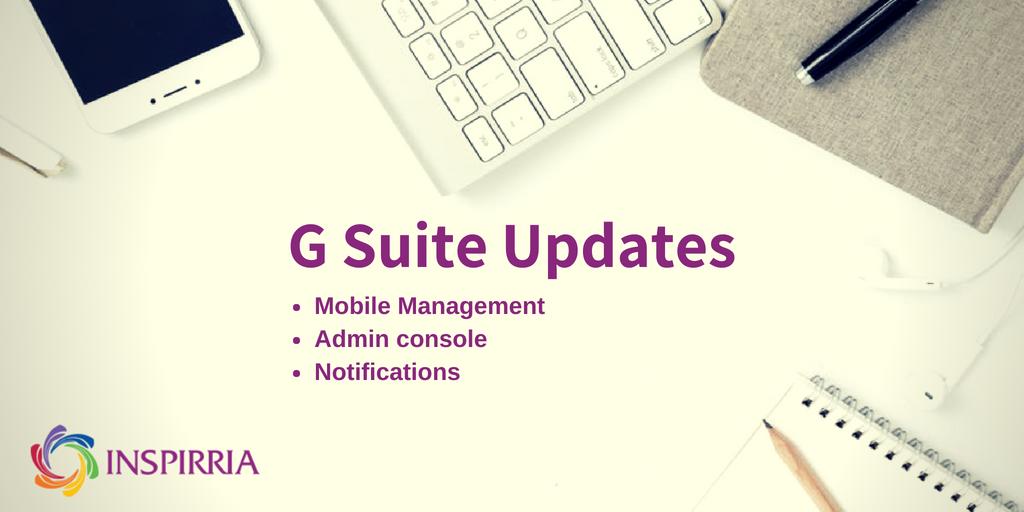 G Suite Updates 2018